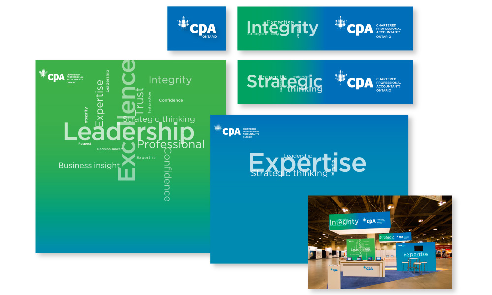 CPA Ontario Display Booth design and implementation