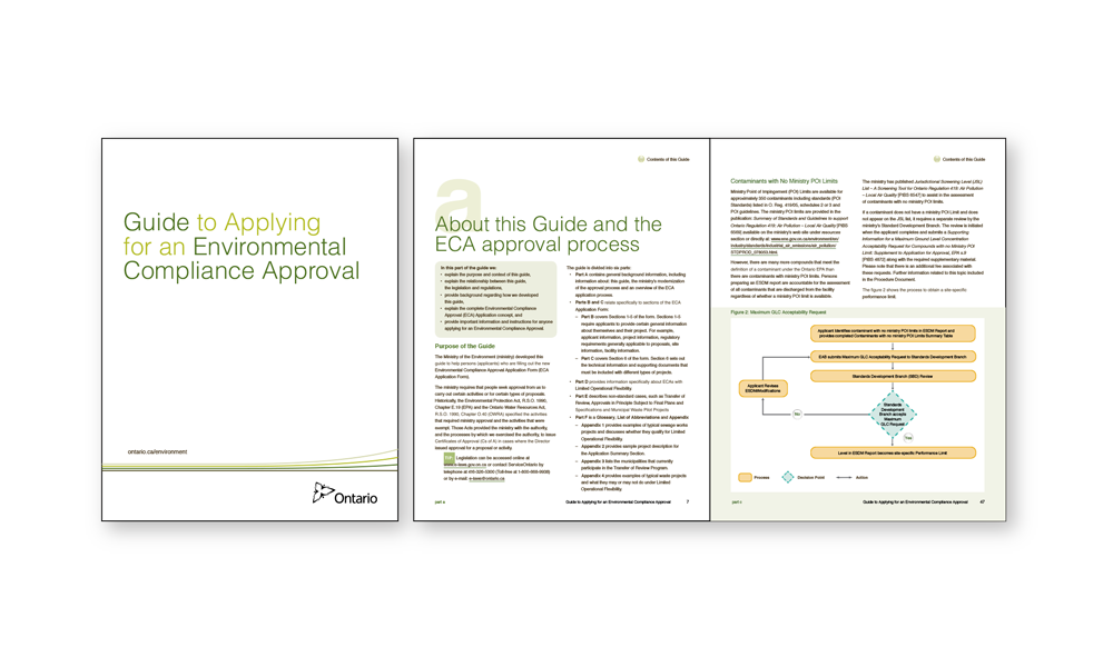 Guide clarifies what information is required in a good application for an Environmental Compliance Approval