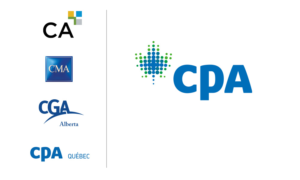 CPA brand identity, derived from the best of Canada's legacy accounting designations (CA, CMA, CGA and CPA Quebec).