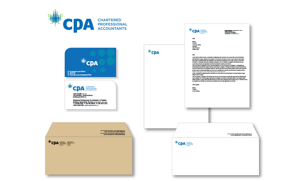 chartered professional accountants brand identity design