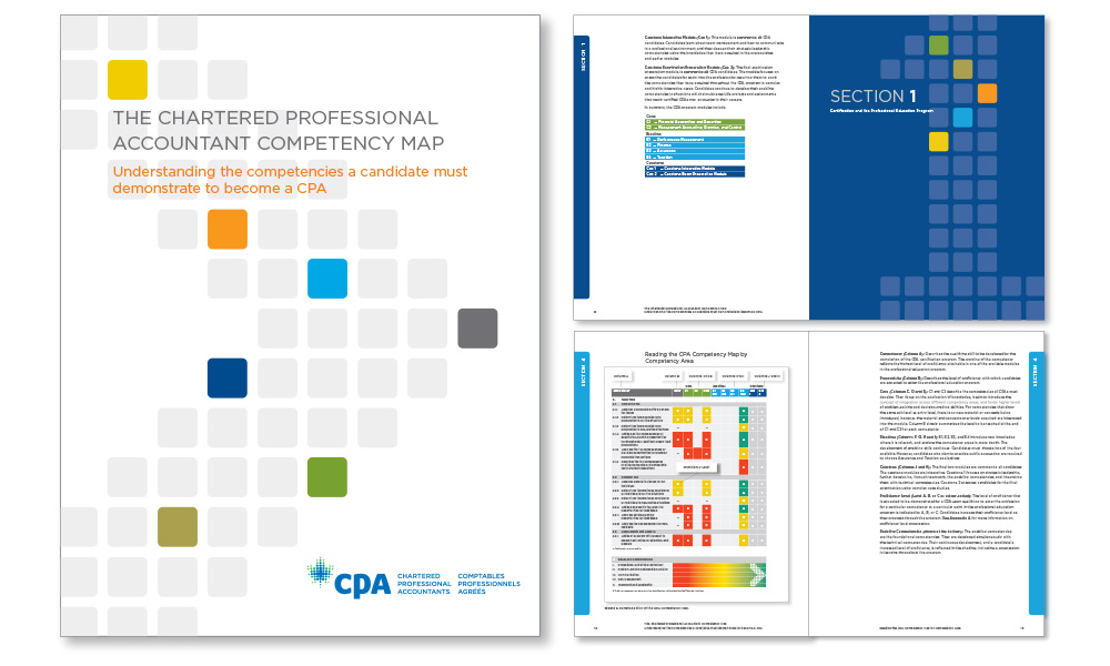 CPA Competency Map defining core competencies required for attaining the CPA designation