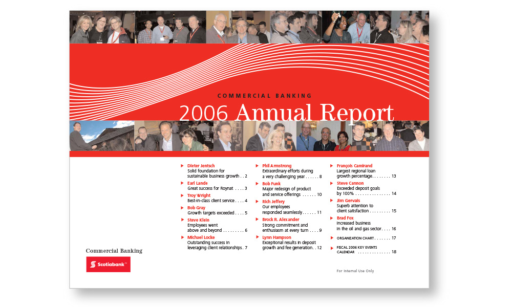 Scotiabank — Marketing brochures, newsletters and infographics